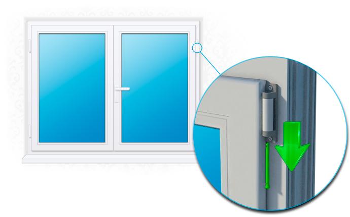 Как снять створки пластикового окна своими руками