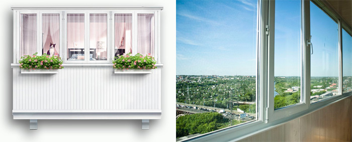 Остекление балкона и лоджии - стоимость в минске на остеклен.